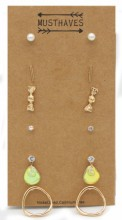 F-A15.2 E426-020 Earring Set 6 pairs Gold