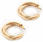 A-E17.2  E002-008 Stylish Metal Earrings Gold