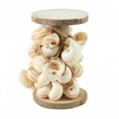 Wooden Coil With 170cm String with Shells