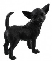 Z-F5.3 Chihuahua Black Polyester 27x28x13cm