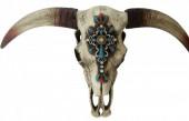 Z-F3.1 #28475 Decorated Skull Large 75x40cm
