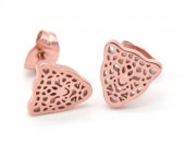 B-A20.3  E1842-010 Stainless Steel Studs Leopard Rose Gold