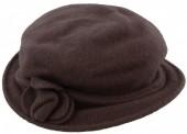 Y-C1.3 Woolen Hat with Flower Brown