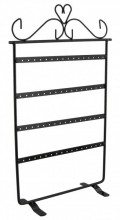 R-D3.1 Metal Earring Display with 4 Layers for 32 Pairs 35x22cm Black