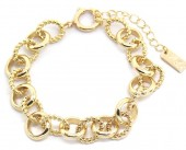 D-A4.1  B2019-017 Metal Chain Bracelet Gold