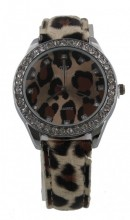 A-C19.3 Watch with Panther print and Crystals 40mm