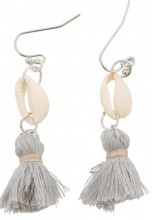 G-B7.6 E009-010 Shell with Tassel Grey 5cm
