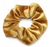 S-E6.3 H305-009V Velvet Scrunchie Gold