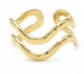 C-B14.2 R110207G S. Steel Ring Adjustable Gold
