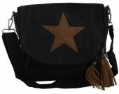 Q-J4.1 BAG017-001 Black Canvas Crossy Body Bag 31x27x9cm