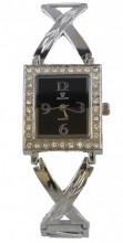 G-E7.3 Quartz Watch Metal with Crystals 30x22mm Silver