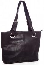 T-D5.3 BAG-503  Luxury Leather Bag 40x27x11cm Black