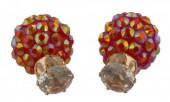 D-C17.4     Dubble Earrings Red Diamonds