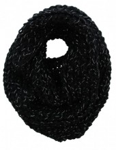 Y-A1.1 Knitted Col With Glitters Viscose Black