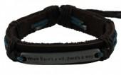 E-A11.2 Leather Quote Bracelet