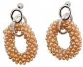 E-D18.3 Facet Glass Beads E007-003 Champagne 5x2.5cm