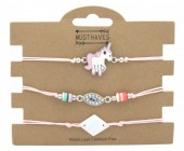 F-A19.2 B316-001 Bracelet Set 3pcs Unicorn Light Pink