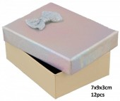 Y-D3.2 PK424-076 Giftbox for Jewelry 7x9x3cm Silver 12pcsY-D3.2 PK424-076 Giftbox for Jewelry 7x9x3cm Silver 12pcs
