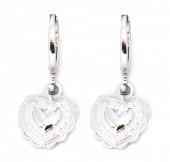 E-C8.2 E304-009 Metal Earrings Heart Silver