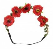 I-B7.2 Ibiza Flowers Headband Red
