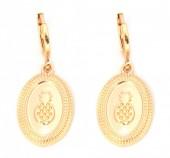 E-C17.3  E304-010 Metal Earrings Pineapple Gold