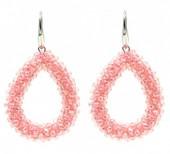 E007-001 Facet Glass Beads 4.5x3.5cm Pink