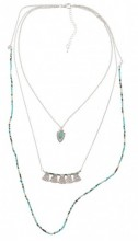G-D16.1  Layered Necklace  52-59cm Silver