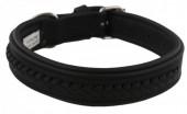 G-B21.1 MTDC-001 Leather Dog Collar Braided Black L 58x2.5cm