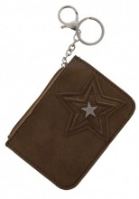 S-D1.2 WA1202-002 Wallet Keychain Star 12x8.5cm Taupe