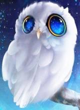 R-L3.2  Q152 Diamond Painting Set Owl 30x20cm
