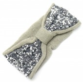 S-K1.3  H401-008E Headband with Sequins Grey