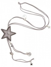 J-E10.1   Necklace Star Grey N009-029 80cm
