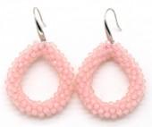 A-B15.3 E007-001 Facet Glass Beads 4.5x3.5cm Pink