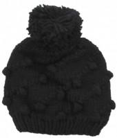 X-K8.2 Beanie Hat with Pompon Black