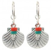 C-D7.2 E2019-033S Earrings Shell 1.5x3cm Silver