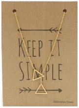 N1759-007 Stainless Steel Necklace Triangles Gold