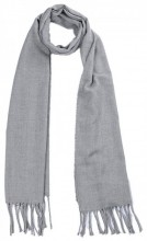 T-O6.2 SCARF406-002B Scarf with Fringes 170x31cm Grey