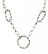 E-A16.1 N2033-023S S. Steel Necklace Circles Silver