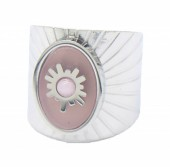 B-E2.3 R220-054S S. Steel Ring Adjustable Pink-Silver