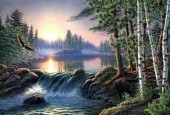 Y-F2.3 X249 Diamond Painting Set Forest-Lake 40x30cm