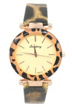 E-B18.2 W523-010D Quartz Watch Leopard 30mm Brown