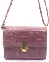 Y-C4.5 BAG006-002B PU Bag Croco 19.5x15x6cm Purple