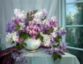X-F6.1 Q169 Diamond Painting Set Flowers 30x20cm