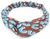 S-H6.3 H034-013 Headband with Animal Print Brown - Blue