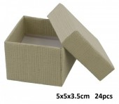 Z-A2.5 Giftbox for Rings 5x5x3.5cm Grey 24pcs