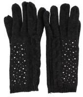 S-G5.1 Gloves with Crystals Dark Grey