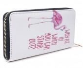 T-J2.1 WA008-007 Wallet with Flamingo 19x10cm