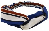 B-F4.2 Headband Stripes White-Brown-Blue