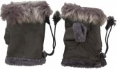 J-A7.1 Hand Warmers with Fur Grey