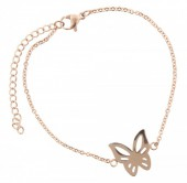 E-A1.5  Stainless Steel 18-23cm Rose Gold B099-007A Butterfly